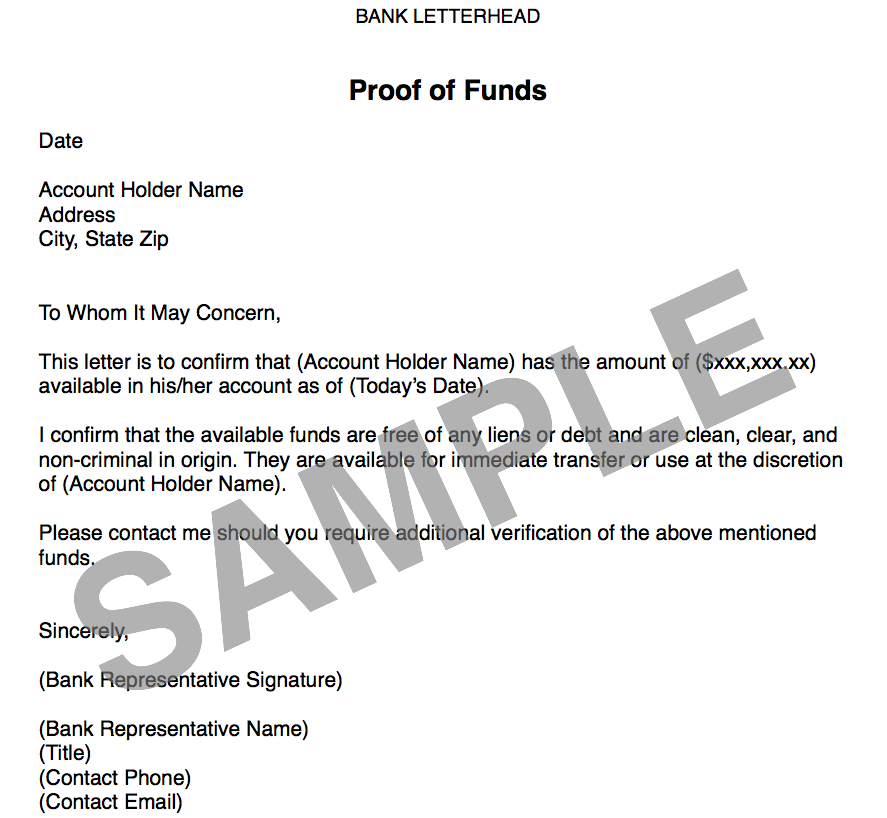 Sample the wholesaling titan proof of funds letter sample altavistaventures Gallery